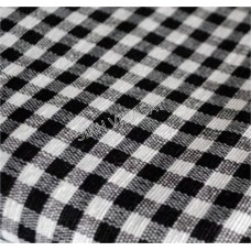 Dabi Parna Men's UnStitched Casual Cotton White And Black Big Small Check Parna (Length- 4 Meters)