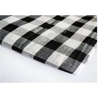 Dabi Parna Men's UnStitched Casual Cotton White And Black Big Small Check Parna (Length- 3 Meters)
