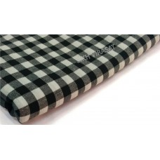 Dabi Parna Men's UnStitched Casual Cotton White And Black Small Check Parna (Length- 3 Meters)