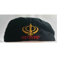 Patka Designer Black Khanda