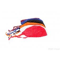 Punjabi Sikh Designer ਪਟਕਾ (paṭka) pathka bandana Dotted Print Head Wrap Color Maroon Orange Red Royal Blue White Black Singh head Gear for infants to young kids Gear Rumal Handkerchief Gift