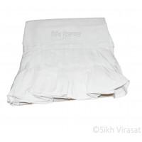 Chandoa Sahib Canopy Beautiful Soft Cotton Wavy Folds Color White 4.5 X 4 Feet Chandoa Sahib
