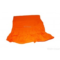 Chandoa Sahib Canopy Beautiful Cotton Wavy Folds Color Kesri 5 X 5 Feet Chandoa Sahib