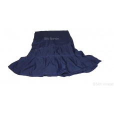 Chandoa Sahib Canopy Beautiful Soft Silk Wavy Folds Color Navy Blue 5 X 5 Feet Chandoa Sahib