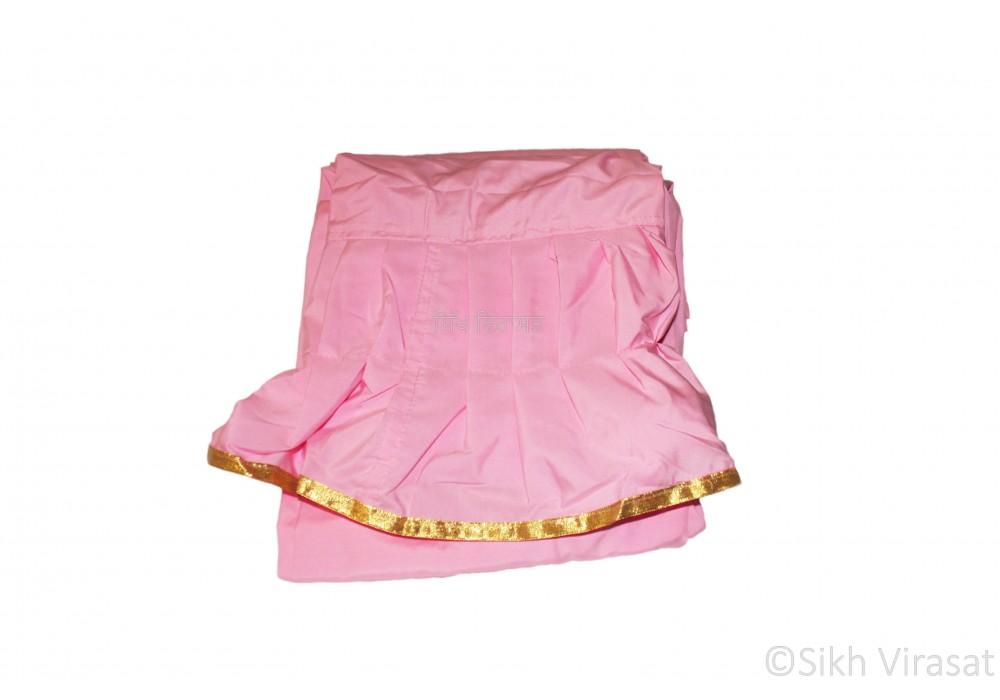 Chandoa Sahib Canopy Beautiful Soft Silk Golden Lace Wavy Folds Color Pink 6 X 4 Feet Chandoa Sahib