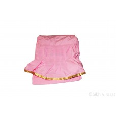 Chandoa Sahib Canopy Beautiful Soft Silk Golden Lace Wavy Folds Color Pink 6 X 4 Feet Chandoa Sahib