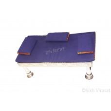 Gaddi Set With Three Pillows Designer Gaddi Set For Peera Sahib Color Blue Large Size 39