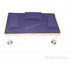 Gaddi Set With Three Pillows For Peera Sahib Color Blue Medium Size 34