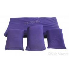 Gaddi Set With Three Pillows For Peera Sahib Color Blue Small Size 25
