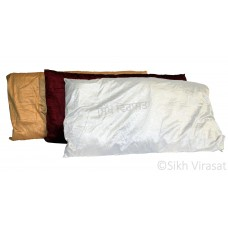 Gaddi For Peera Sahib Velvet Cover with Zipper and Pattern Cotton Gaddi Color White, Cream, Maroon Large Size 36