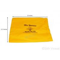 Gutka Or Pothi Sahib Gurbani Sanchi Sahib Cover Handy Cushion Velcro Cover Large Color Yellow/Blue Size 15 X 11.5 inches