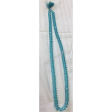 Mala Crystal Large Thick 108 Beads (Color- Blue)