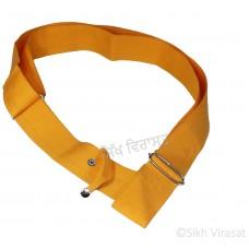 Gatra Or Gaatra Adjustable Steel Buckle Tich Button Width 2 Inch Color Kesri (Saffron)