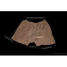 Kachehra or Kacchera or Kachera No.11 Cotton Elastic Waist Size 30 - 36 Inches Color Brown