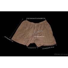 Kachehra or Kacchera or Kachera No.14 Cotton Elastic Waist Size 36 - 42 Inches Color Brown