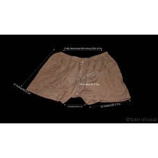 Kachehra or Kacchera or Kachera No.16 Cotton Elastic Waist Size 37 - 50 Inches Color Brown