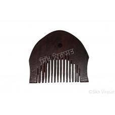 Kanga Oval Or Kangi Or Kanga Mori Wood OR Kangha Or Wooden Comb Or Wood Dark Brown Sikh Comb Size 2 inches