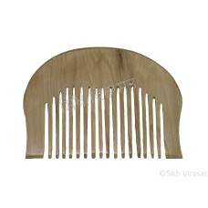 Kanga Normal Round Or Kangi Or Kanga Wood OR Kangha Or Hexagonal Wooden Comb Or Wood Light Cream Sikh Comb Size 2.7 inches