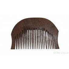 Kanga Normal Round Or Kangi Or Kanga Wood OR Kangha Or Hexagonal Wooden Comb Or Wood Dark Brown Sikh Comb Size 2.7 inches