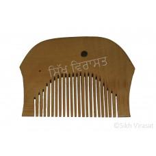 Kanga Round Or Kangi Or Kanga Wood OR Kangha Or Mori Wooden Comb Or Wood Light Cream Sikh Comb Size 2.1 inches
