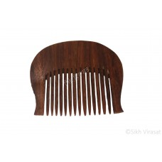 Kanga Round Curved Or Kangi Or Kanga Wood OR Kangha Or Wooden Comb Or Wood Dark Brown Sikh Comb Size 3 inches