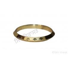 Kara Or Kada Designer Steel Gold Size 4 cm