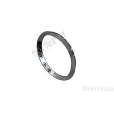 Kara Or Kada Designer Khanda Steel Silver Grey Size 4 cm