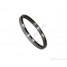 Kara Or Kada Iron (Punjabi: Sarabloh) Gol or Round Polished Thick Color Silver Size-5.8cm to 6.7cm