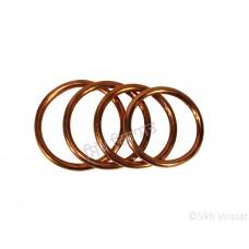 Kara Or Copper (Punjabi: Tamba) Kada Color Copper Size-6.3cm to 7.4 cm
