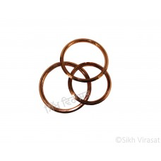 Kara Or Copper (Punjabi: Tamba) Kada with Rings Color Copper Size-5.8cm to 7.3 cm