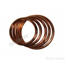 Kara Or Copper (Punjabi: Tamba) Kada with Multiple Rings Color Copper Size-5.8cm to 8.0 cm