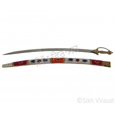 Kirpan Diamond Miyan Slim Or Decorated scabbard Marriage Kirpan Gatka Sports Medium Size 33 inches