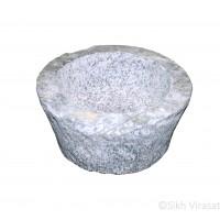 Mortar (Punjabi: Kunda Or Sunehra) Stone Size Medium – 12 Inch