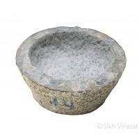 Mortar (Punjabi: Kunda Or Sunehra) Stone Size Large – 14 Inch