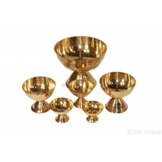 Jot Oil Brass Lamp / Akhand Jyoti Diya Deepak/ Brass stand Color Golden Size 2.25/2.5/3/3.75/4/6.25
