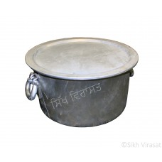 Patila (Punjabi: ਪਤੀਲਾ) Kunde Wala Aluminium or Aluminum Color – Silver Size – 17.5 Inch Number 34