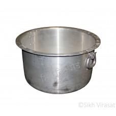 Patila (Punjabi: ਪਤੀਲਾ) Kunde Wala Aluminium or Aluminum Color – Silver Size – 20 Inch Number 40