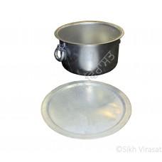 Patila (Punjabi: ਪਤੀਲਾ) Kunde Wala Aluminium or Aluminum Color – Silver Size – 24 Inch Number 48