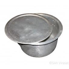 Patila (Punjabi: ਪਤੀਲਾ) Kunde Wala Aluminium or Aluminum Color – Silver Size – 25 Inch Number 50