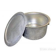 Patila (Punjabi: ਪਤੀਲਾ) Kunde Wala Aluminium or Aluminum Color – Silver Size – 31 Inch Number 62