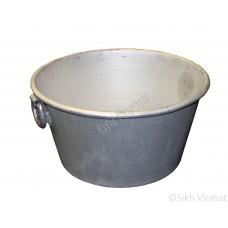 Tub (Punjabi: ਟੱਬ) Kunde Wala Aluminium or Aluminum Color – Silver Size – 21.5 Inch Number 44