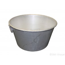 Tub (Punjabi: ਟੱਬ) Kunde Wala Aluminium or Aluminum Color – Silver Size – 23 Inch Number 46