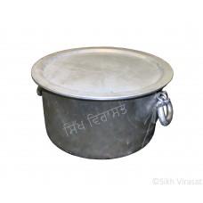 Patila (Punjabi: ਪਤੀਲਾ) Kunde Wala Aluminium or Aluminum Color – Silver Size – 15.5 Inch Number 30