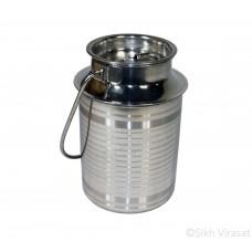 Dol (Punjabi: ਡੋਲ or ਡੋਲੂ) Stainless-steel Color Silver Capacity 2.5 Liter