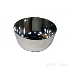 Bowl (Punjabi: ਕੌਲੀ or ਕਟੋਰੀ) Stainless-steel Color Silver Size Diameter 3.7 Inch