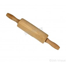Mini Rolling Pin (Punjabi: ਬੇਲਣਾ or ਵੇਲਣਾ) Wooden Movable Color – Cream Size – 9.8 Inch