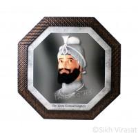 Shri Guru Gobind Singh Ji Photo, Hexagon Shaped Frame with Attractive Pattern, Size – 10x20