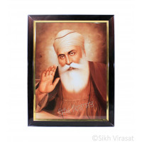 Shri Guru Nanak Dev Ji Photo, Rectangle Shaped Frame with Attractive smooth finish with golden colored lining, Size – 12x16