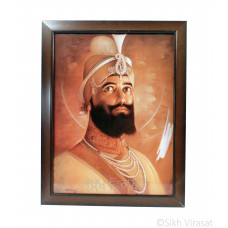 Shri Guru Gobind Singh Ji Photo, Rectangle Shaped Frame with Attractive smooth finish, Size – 12x16