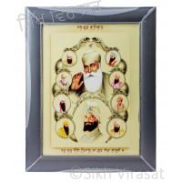 Ten Gurus and Das Guru Sahiben Colored Photo Size 12 X 16
